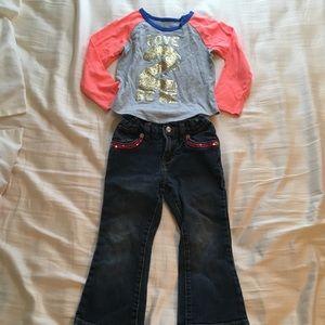 EUC matching pants set -3T
